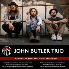 Australian favourites, the John Butler Trio are old hands at performing at the West Coast Blues 'n' Roots. In fact, band founder, guitarist and vocalist … John Butler Trio, Old Hands, Blues Rock, West Coast, Boy Bands, Couple Photos, Music, Movie Posters, Perth