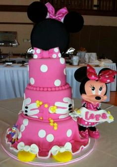 Awesome little girl birthday cakes. #Minnie mouse