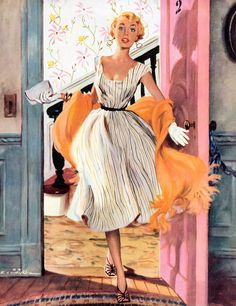 """The Lady's Future - Saturday Evening Post """"Leading Ladies"""", February 6, 1954…"""