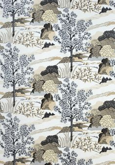 DAINTREE EMBROIDERY, Grey, W785001, Collection Greenwood from Thibaut