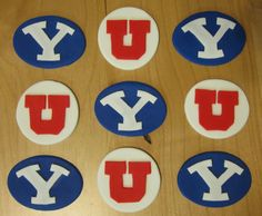 Custom College Football Cupcake Toppers - 1 Dozen