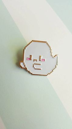 Tis the season!! Spoop up any outfit with this gorgeous gold finish 8-bit Pixel Ghostpin! This pin goes FABULOUSLY with any witchy getup, or showing off your spooky side any time of the year!  This lil guy has a golden finish and metal butterfly clasp. He is made of soft enamel and is an original Precious Bbyz mascot, designed by me! Measures 3CM tall.  Pins are packed with a backing card in a bubble mailer!  International Buyers!! If you choose the cheaper shipping method, please keep in…