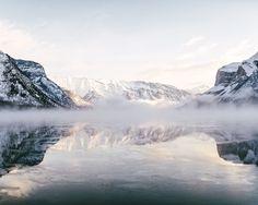 lake minnewanka freezing. banff. alberta. by Tanner Wendell Stewart #xemtvhay