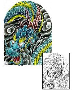 Dragon Tattoos DFF-00116 Created by Damien Friesz