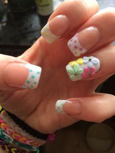 Polka dots  3D daisy's ❤️