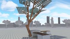 Extraordinary solar eTree transforms public seating | ISRAEL21c