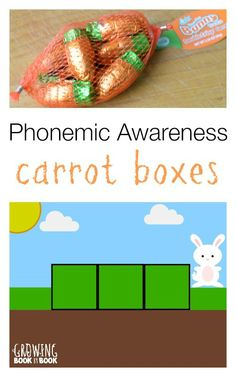 Build phonemic awareness with this fun free spring printable Elkonin box sheet from Growing Book y Book.