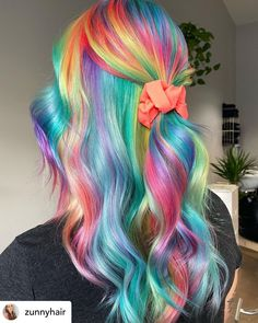 Hair Dye Colors, Cool Hair Color, Diy Hairstyles, Pretty Hairstyles, Haircuts, Hidden Rainbow Hair, Unnatural Hair Color, Coloured Hair, Crazy Hair