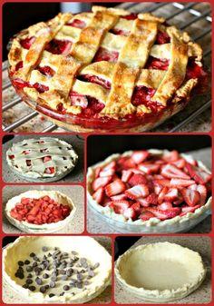 Dark Chocolate Strawberry Pie » Pardon the Dog Hair (website name lol)