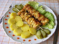 Tofu ražniči s banánom a šampiňónmi (fotorecept) - obrázok 7 Tofu, Tempeh, Seitan, Sausage, Food And Drink, Vegetarian, Meat, Chicken, Sausages