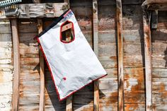 Bag from recycled sqiling material. #bag