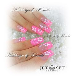 Naildesign by Kamila Achatz Jet Set Beauty training center and nail salon in Furth im Wald. Claire's Nails, Pink Nails, Manicure, One Stroke, Great Nails, Love Nails, Jet Set, Nailart, Nail Envy