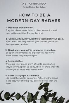 Learn the basics to becoming a Modern-Day Badass and the powerful secret to always getting what you want out of life