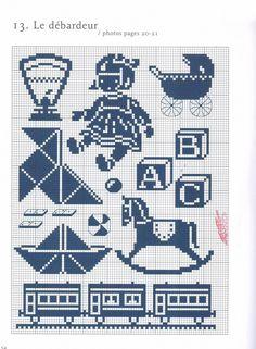 Blue children's motifs