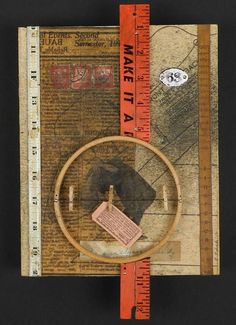 Ida Surely Is A Dandy: original mixed media assemblage art