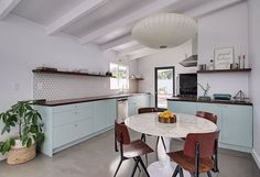 Dreamy remodeled kitchen in a ravishing Palm Springs midcentury bungalow