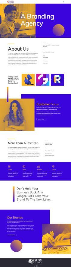Branding Agency Html Template Creative Web Design, Creative Studio, Design Agency, Branding Design, Web Design Inspiration, Design Ideas, Joomla Templates, Responsive Web Design, Branding Agency