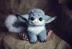 My Little Dragon: Grey Elf by Santani Santani* Artisan Crafts / Dolls, Plushies & Custom Toys / Original Artist Dolls http://santani.deviantart.com/art/Inari-Foxes-Oncilla-423526300