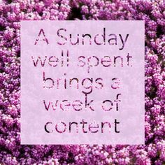 You, yes YOU, deserve a well spent Sunday. Enjoy it with us!