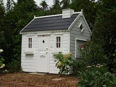 Cottage style playhouse (PC100701) - tree house, playhouses outdoor, garden playhouse, children's play house, outdoor wendy house, wooden playhouse