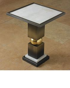 86 best luxury side tables images on pinterest contemporary side global views squeeze side table bronze wwhite marble top global views aloadofball Images