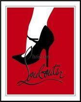 インテリア雑貨 Christian Louboutin シューズ ルブタン キャンパスポスター