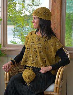 Ravelry: Clothilde Vest, Cap, and Drawstring Bag pattern by Elsebeth Lavold