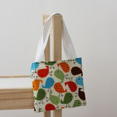 Small kids bag with handles  Autumn Chicks by raenne on Etsy, $8.00