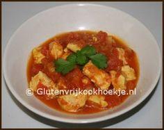 Curry van kip en tomaten | Het Glutenvrij Kookhoekje