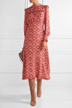 Vilshenko | Miranda floral-print silk-georgette dress | NET-A-PORTER.COM