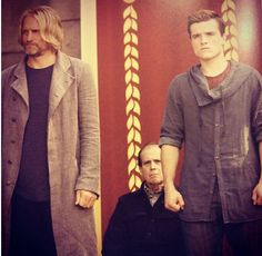 Woody and Josh were fantastic in this scene. I keep rewatching the Reaping clip over and over again. I think that Peeta not only volunteered to protect Katniss, but also to protect Haymitch. Haymitch knew that and didn't want Peeta to do it. But that is their relationship and I love it.