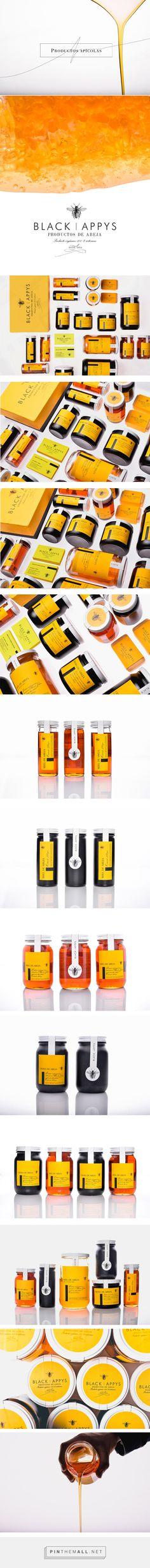 Black Appys on Behance by Daniel Barba, Guadalajara, Mexico curated by Packaging Diva PD. Proyecto de identidad para una marca emergente de productos derivados de la abaja, que incluyen miel, propoleo, jalea, cosméticos y jabones de tocador.