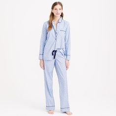 Crew for the End-on-end pajama set in swiss-dot for Women. Find the best selection of Women Sleepwear & Loungewear available in-stores and online. Best Pajamas, Pajamas Women, Adult Pajamas, Pajama Bottoms, Pajama Top, Cotton Pjs, Swiss Dot, Dress To Impress, Fashion News