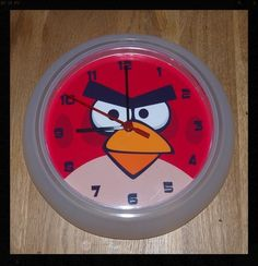 Angry Birds Bedroom White Wall Clock approx 25cm diameter. | eBay