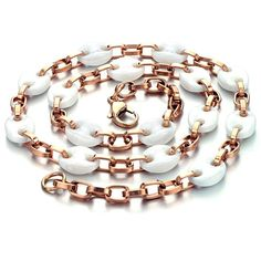 White Ceramic Necklace for Women