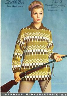 Ingebjørg 713 S Norwegian Knitting, Vintage Knitting, Knitwear, Knitting Patterns, Retro, Blouse, Coat, My Style, Crochet