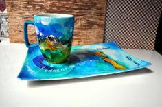 hand painted porcelain www.sztukaserca.com