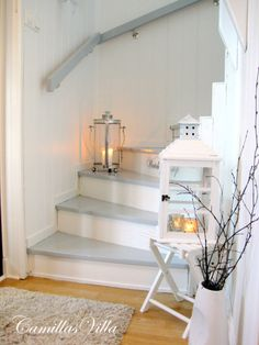 Grey staircase - love this
