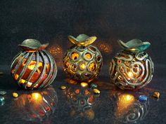 Essential Oil Diffuser and Luminary - ceramic Candle holder - Aromatherapy Diffuser - chromotherapy