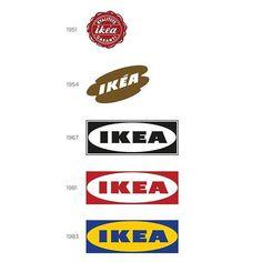 IKEA - Logo evolution Logo Evolution, Ikea Logo, Brand Identity, Logo Branding, Brand Icon, Logo Images, Design Reference, Typo, Logo Design