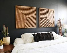 Decor, Room, Interior, Home Decor Bedroom, Home, Wood Wall Art, Geometric Wall Art, Wood Art, Modern Wood