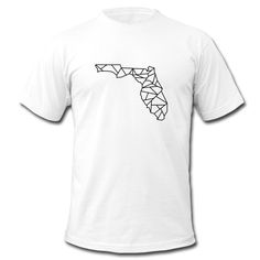 Florida Map Origami Shirt - Men's T-Shirt by American Apparel