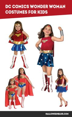 DC Comics Wonder Woman Costumes For KIDS >>> click the PIN to shop!