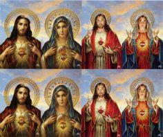 Assorted Sacred Heart Of Jesus/Immaculate Heart of Mary Custom Prayer Card