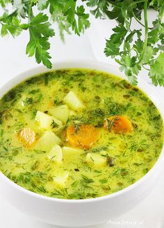 Soup Recipes, Vegetarian Recipes, Cooking Recipes, Healthy Recipes, Polish Soup, Polish Recipes, Gluten Free Recipes, Food Porn, Food And Drink