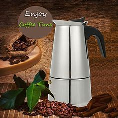 6 Cup 300ml Stainless Steel Moka Espresso Latte Percolator Stove Top Coffee Maker Pot // 6 taza de acero inoxidable de 300 ml moka espresso latte cafetera estufa fabricante de olla > Check this awesome image  : Coffee Maker
