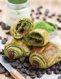 Pains au chocolat et croissants au thé vert Matcha - Matcha Croissants