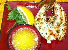 florida lobster with basil butter