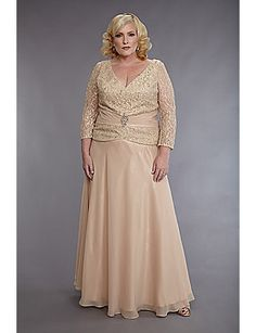 Truly perfect Mother of the Bride or Groom Wedding dress! #sonsi #plussize