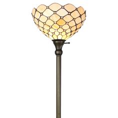Amora Lighting Tiffany-style Ivory Jeweled 72-inch Floor Torchiere Lamp - Overstock Shopping - Great Deals on Amora Lighting Tiffany Style Lighting